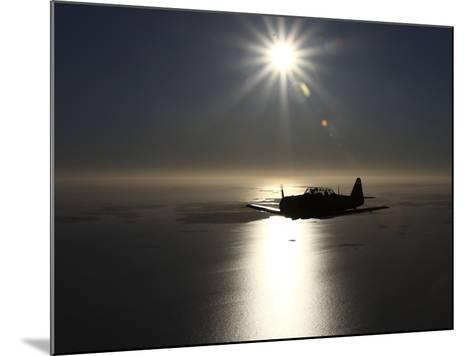 North American T-6 Texan Trainer Warbird in Swedish Air Force Colors-Stocktrek Images-Mounted Photographic Print