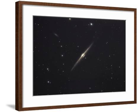 NGC 4565, An Edge-on Unbarred Spiral Galaxy in the Constellation Coma Berenices-Stocktrek Images-Framed Art Print