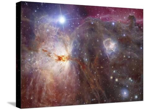 Horsehead Nebula Region in Infrared And Visible Light-Stocktrek Images-Stretched Canvas Print