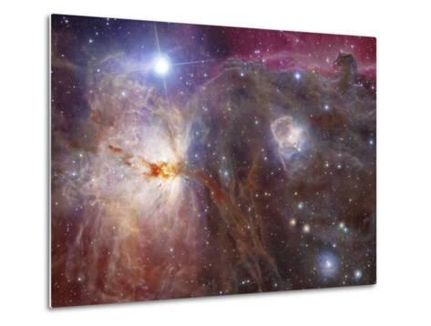 Horsehead Nebula Region in Infrared And Visible Light-Stocktrek Images-Metal Print