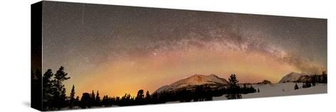 Aurora Borealis And Milky Way Over Yukon, Canada-Stocktrek Images-Stretched Canvas Print