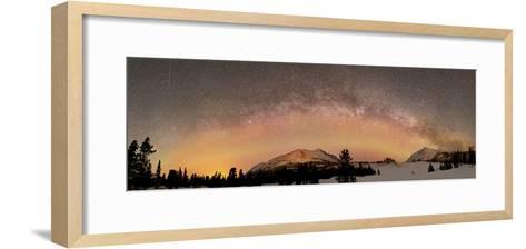 Aurora Borealis And Milky Way Over Yukon, Canada-Stocktrek Images-Framed Art Print