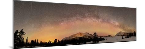 Aurora Borealis And Milky Way Over Yukon, Canada-Stocktrek Images-Mounted Photographic Print