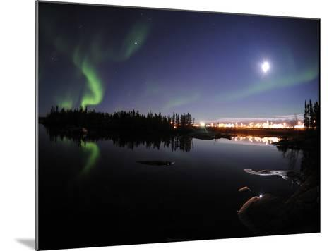 Aurora Borealis Over Long Lake, Northwest Territories, Canada-Stocktrek Images-Mounted Photographic Print