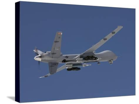 An MQ-9 Reaper Flies a Training Mission Over New Mexico-Stocktrek Images-Stretched Canvas Print