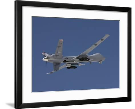 An MQ-9 Reaper Flies a Training Mission Over New Mexico-Stocktrek Images-Framed Art Print