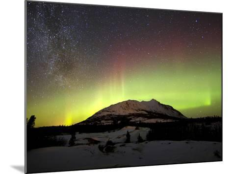 Aurora Borealis And Milky Way Over Carcross Dessert, Canada-Stocktrek Images-Mounted Photographic Print