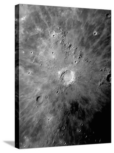 Lunar Crater Copernicus Surrounded by Impact Residue-Stocktrek Images-Stretched Canvas Print