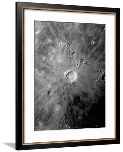 Lunar Crater Copernicus Surrounded by Impact Residue-Stocktrek Images-Framed Art Print