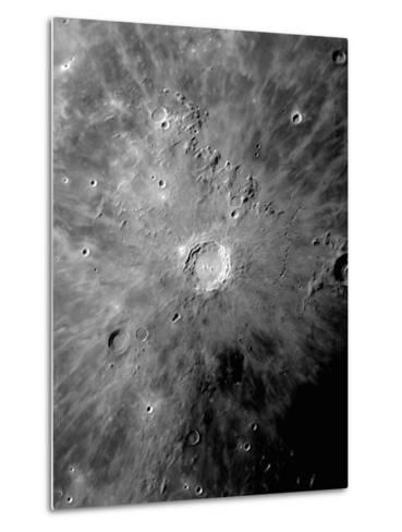Lunar Crater Copernicus Surrounded by Impact Residue-Stocktrek Images-Metal Print
