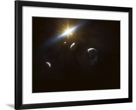 The Remains of a Shattered Earth Several Years After An Apocalyptic Event-Stocktrek Images-Framed Art Print