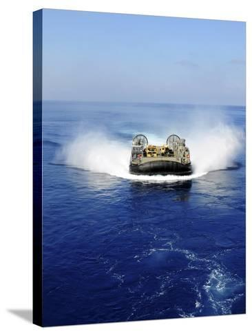 A Landing Craft Air Cushion in the Mediterranean Sea-Stocktrek Images-Stretched Canvas Print