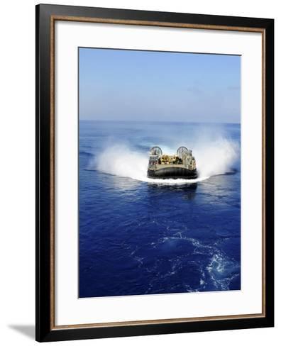 A Landing Craft Air Cushion in the Mediterranean Sea-Stocktrek Images-Framed Art Print