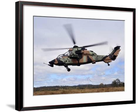 An Australian Army Tiger Helicopter Flies a Reconnaissance Mission-Stocktrek Images-Framed Art Print