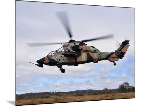 An Australian Army Tiger Helicopter Flies a Reconnaissance Mission-Stocktrek Images-Mounted Photographic Print