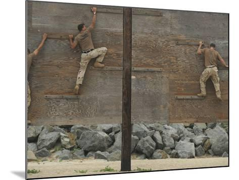 Sailors Crawl Across Narrow Planks of Wood As Part of An Obstacle Course-Stocktrek Images-Mounted Photographic Print