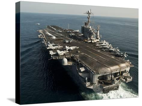The Nimitz-class Aircraft Carrier USS John C. Stennis Transits the Arabian Sea-Stocktrek Images-Stretched Canvas Print