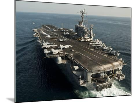 The Nimitz-class Aircraft Carrier USS John C. Stennis Transits the Arabian Sea-Stocktrek Images-Mounted Photographic Print
