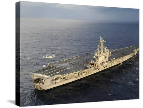An MV-22 Osprey Takes Off from the Flight Deck of USS George H.W. Bush-Stocktrek Images-Stretched Canvas Print