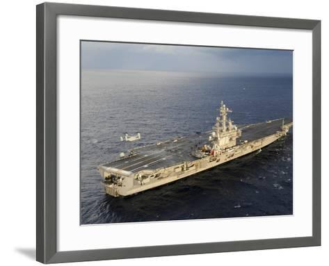 An MV-22 Osprey Takes Off from the Flight Deck of USS George H.W. Bush-Stocktrek Images-Framed Art Print