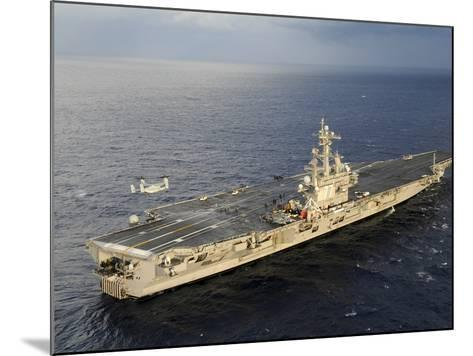 An MV-22 Osprey Takes Off from the Flight Deck of USS George H.W. Bush-Stocktrek Images-Mounted Photographic Print