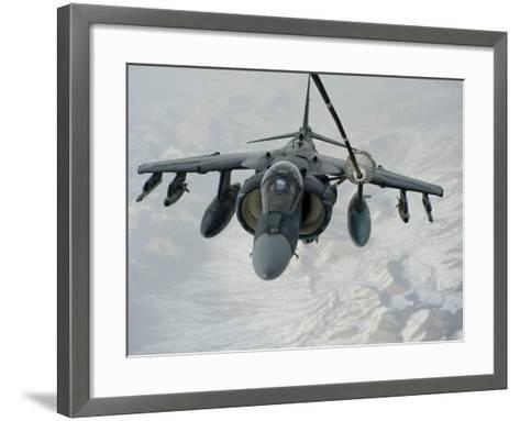 An A/V-8B Harrier Receives Fuel Over Afghanistan from a KC-10 Extender-Stocktrek Images-Framed Art Print