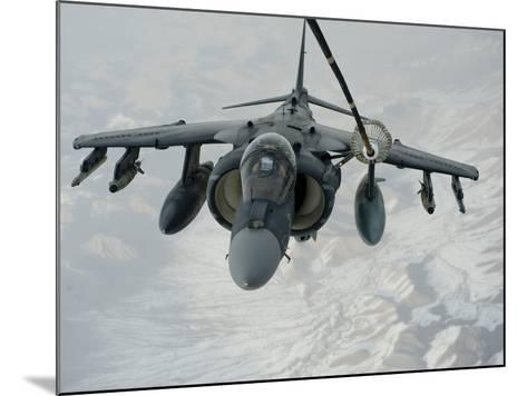 An A/V-8B Harrier Receives Fuel Over Afghanistan from a KC-10 Extender-Stocktrek Images-Mounted Photographic Print