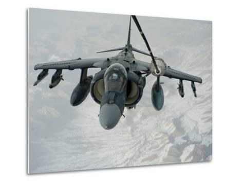 An A/V-8B Harrier Receives Fuel Over Afghanistan from a KC-10 Extender-Stocktrek Images-Metal Print