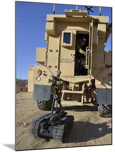 A Talon Mark 2 Bomb Disposal Robot Is Deployed from a Rapid Response Vehicle-Stocktrek Images-Mounted Photographic Print