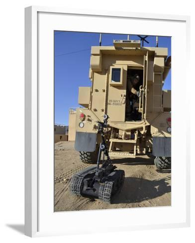 A Talon Mark 2 Bomb Disposal Robot Is Deployed from a Rapid Response Vehicle-Stocktrek Images-Framed Art Print