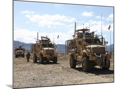 Three U.S. Army Mine Resistant Ambush Protected Vehicles-Stocktrek Images-Mounted Photographic Print