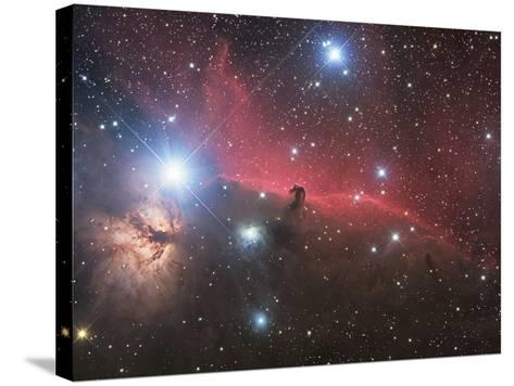 Horsehead Nebula And Flame Nebula in Orion-Stocktrek Images-Stretched Canvas Print