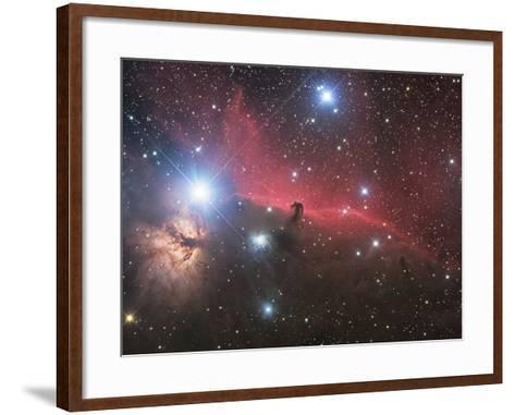 Horsehead Nebula And Flame Nebula in Orion-Stocktrek Images-Framed Art Print