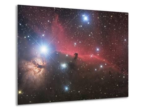 Horsehead Nebula And Flame Nebula in Orion-Stocktrek Images-Metal Print