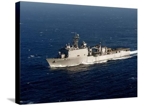 The Whidbey Island-class Dock Landing Ship USS Rushmore-Stocktrek Images-Stretched Canvas Print