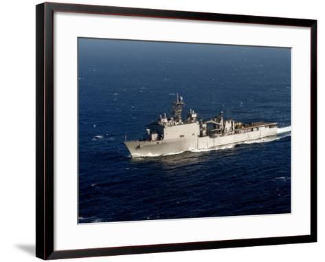 The Whidbey Island-class Dock Landing Ship USS Rushmore-Stocktrek Images-Framed Art Print