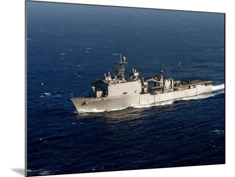 The Whidbey Island-class Dock Landing Ship USS Rushmore-Stocktrek Images-Mounted Photographic Print