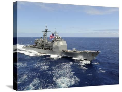 The Guided-missile Cruiser USS Princeton-Stocktrek Images-Stretched Canvas Print