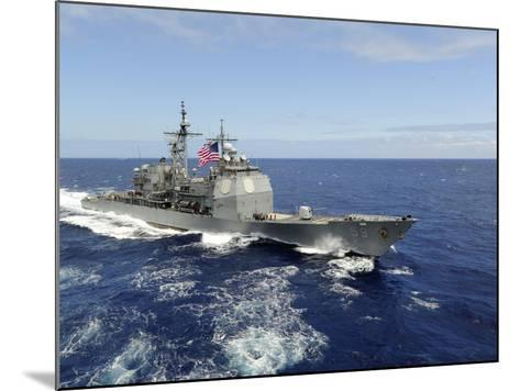 The Guided-missile Cruiser USS Princeton-Stocktrek Images-Mounted Photographic Print