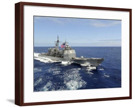 The Guided-missile Cruiser USS Princeton-Stocktrek Images-Framed Art Print