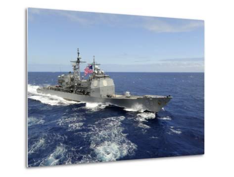 The Guided-missile Cruiser USS Princeton-Stocktrek Images-Metal Print