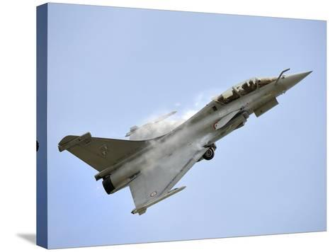 A Dassault Rafale of the French Air Force in Flight Over Malaysia-Stocktrek Images-Stretched Canvas Print