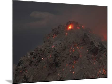 Glowing Summit of Rerombola Lava Dome of Paluweh Volcano-Stocktrek Images-Mounted Photographic Print