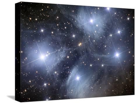 The Pleiades, An Open Cluster of Stars in the Constellation Taurus-Stocktrek Images-Stretched Canvas Print