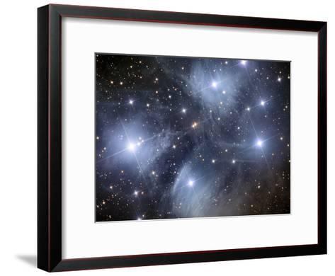 The Pleiades, An Open Cluster of Stars in the Constellation Taurus-Stocktrek Images-Framed Art Print