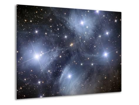 The Pleiades, An Open Cluster of Stars in the Constellation Taurus-Stocktrek Images-Metal Print