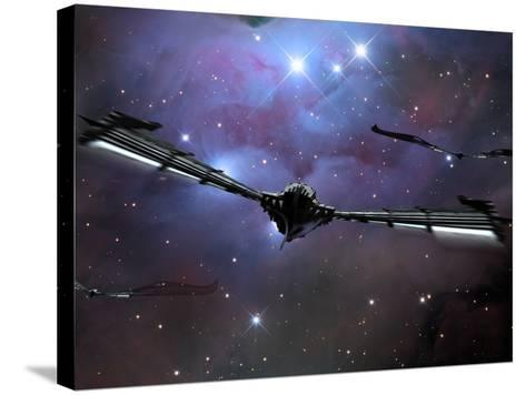 Xeelee Nightfighters, Inspired by the Novels of Stephen Baxter-Stocktrek Images-Stretched Canvas Print