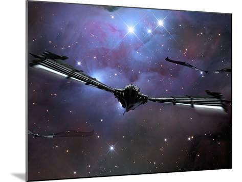 Xeelee Nightfighters, Inspired by the Novels of Stephen Baxter-Stocktrek Images-Mounted Photographic Print