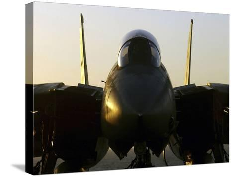 An F-14B Tomcat Sits On the Flight Deck Aboard Aircraft Carrier USS Harry S. Truman-Stocktrek Images-Stretched Canvas Print