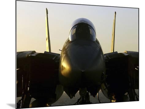 An F-14B Tomcat Sits On the Flight Deck Aboard Aircraft Carrier USS Harry S. Truman-Stocktrek Images-Mounted Photographic Print